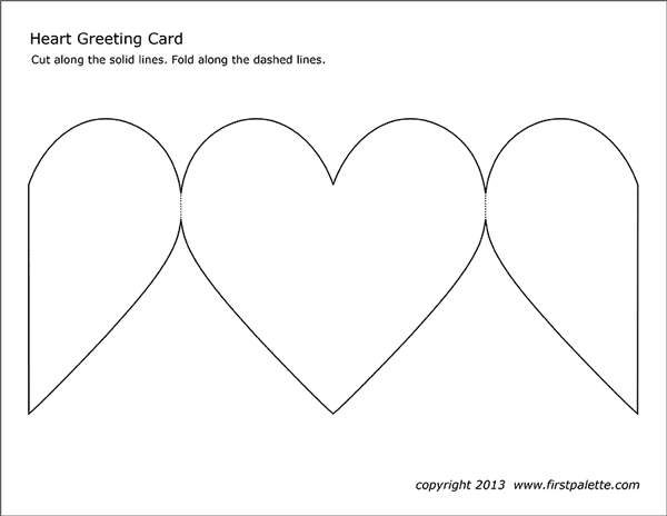 Heart Greeting Card  Free Printable Templates & Coloring Pages  Throughout Fold Out Card Template Within Fold Out Card Template