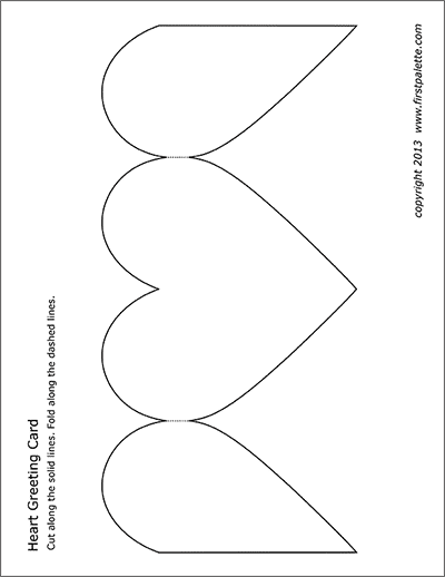 Heart Greeting Card  Free Printable Templates & Coloring Pages  With Regard To Fold Out Card Template Pertaining To Fold Out Card Template