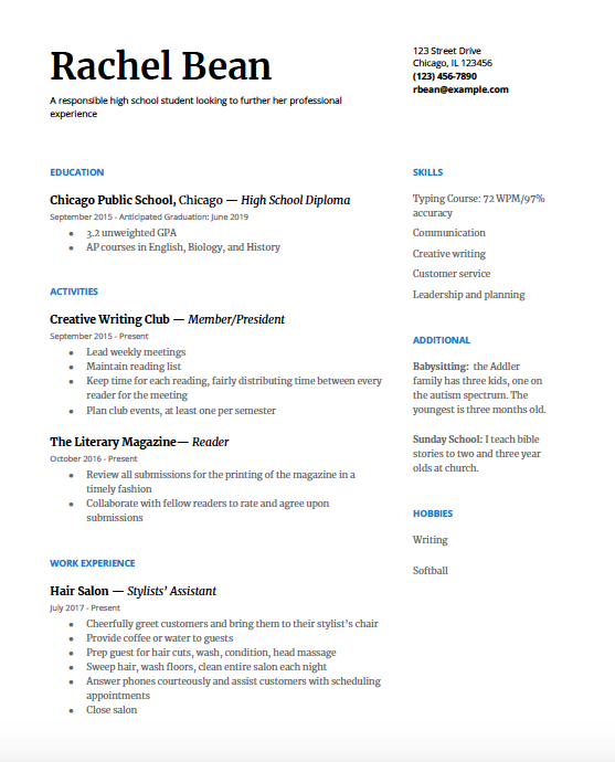 High School Resume A Step-by-Step Guide Regarding High Resume Templates What To Look For Regarding High Resume Templates What To Look For