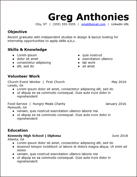 High School Student Skills Google Docs Resume Template In High Resume Templates What To Look For Pertaining To High Resume Templates What To Look For