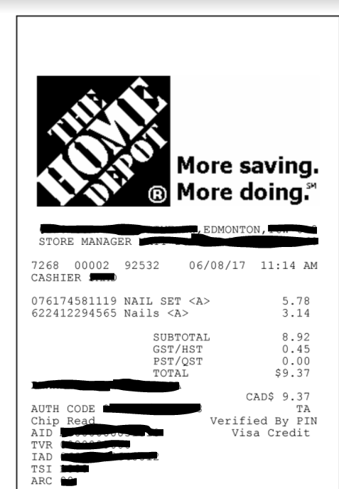 Home Depot Receipt - Home Decor Within Home Depot Receipt Template Intended For Home Depot Receipt Template