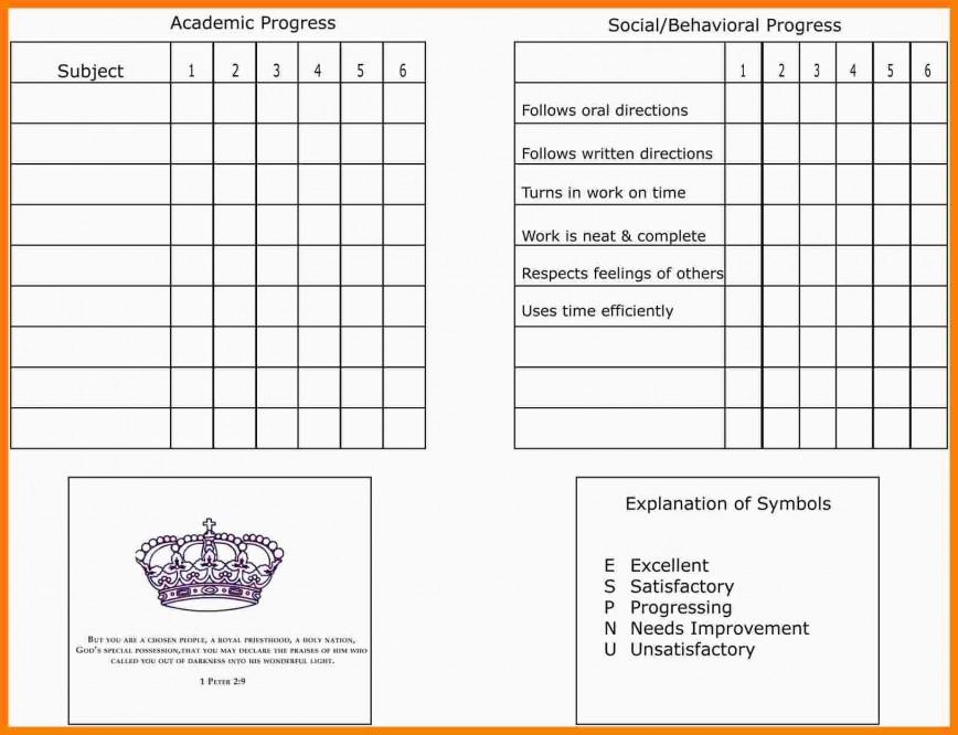 Homeschool Report Card Template Free ~ Addictionary Within Homeschool Report Card Template Intended For Homeschool Report Card Template