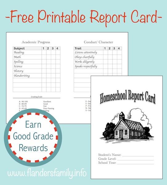 Homeschool Report Cards - Flanders Family Homelife With Homeschool Report Card Template In Homeschool Report Card Template