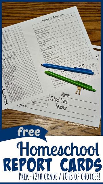 Homeschool Report Cards In Homeschool Report Card Template In Homeschool Report Card Template