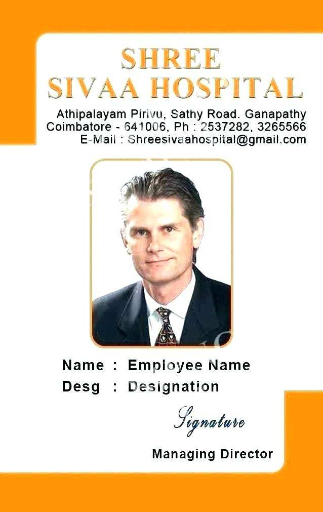 Hospital Id Card Template Free Download - Cards Design Templates Inside Hospital Id Card Template With Hospital Id Card Template