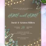 Housewarming Invitations - Download PDF or Order printed With Free Housewarming Invitation Card Template