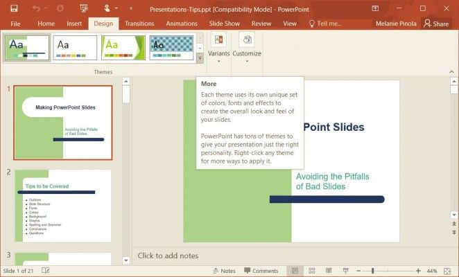 How to Change Templates in PowerPoint 11  Laptop Mag With Powerpoint Replace Template Regarding Powerpoint Replace Template