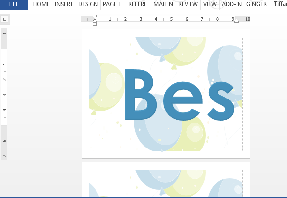 How To Create Best Wishes Banner Using MS Word Intended For Microsoft Word Banner Template Within Microsoft Word Banner Template