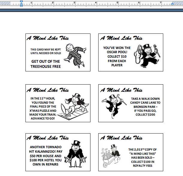How To, How Hard, and How Much: How to Make a Personalized  With Monopoly Chance Cards Template Intended For Monopoly Chance Cards Template
