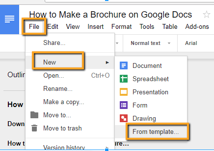 How to Make a Brochure on Google Docs in Two Ways In Google Drive Brochure Templates Pertaining To Google Drive Brochure Templates