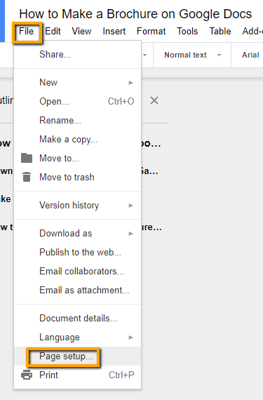 How to Make a Brochure on Google Docs in Two Ways Within Google Drive Brochure Templates Inside Google Drive Brochure Templates