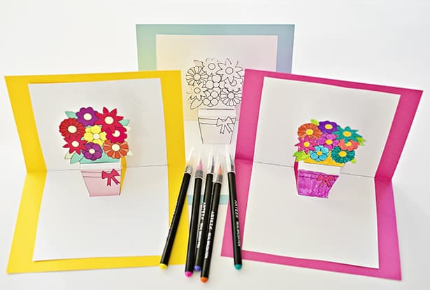 HOW TO MAKE POP-UP FLOWER CARDS WITH FREE PRINTABLES Within Free Printable Pop Up Card Templates Within Free Printable Pop Up Card Templates