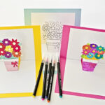 HOW TO MAKE POP-UP FLOWER CARDS WITH FREE PRINTABLES With Regard To Pop Up Card Templates Free Printable