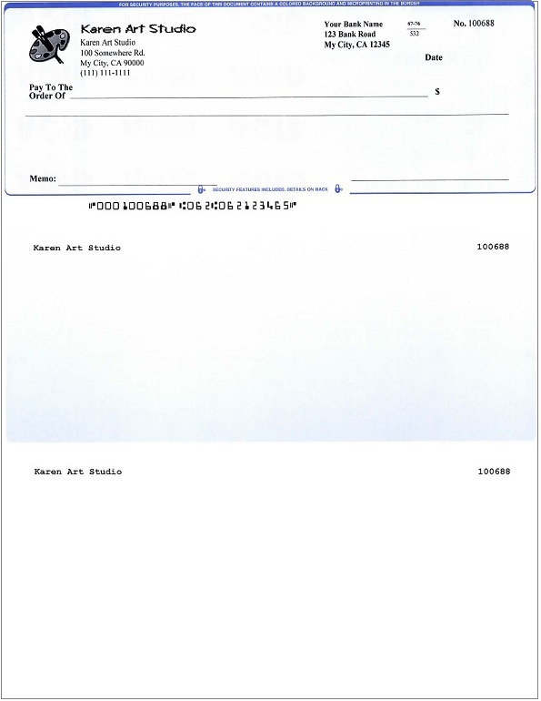 How to Print QuickBooks Compatible MICR Blank Checks Yourself In Blank Business Check Template Word Inside Blank Business Check Template Word