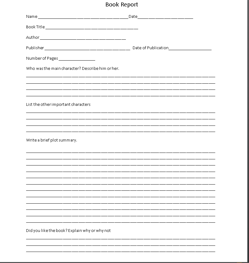 How To Write A 11th Grade Book Report Template With Regard To 6th Grade Book Report Template Intended For 6th Grade Book Report Template