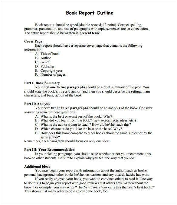 How to Write a Book Report - Step by Step Guide Throughout One Page Book Report Template
