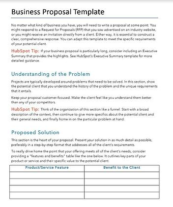 How to Write a Business Proposal [Examples + Template] Regarding Idea Proposal Template Regarding Idea Proposal Template