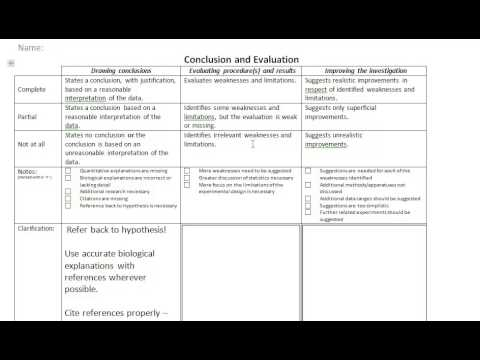 How to write a lab report - Conclusion and Evaluation Throughout Ib Lab Report Template