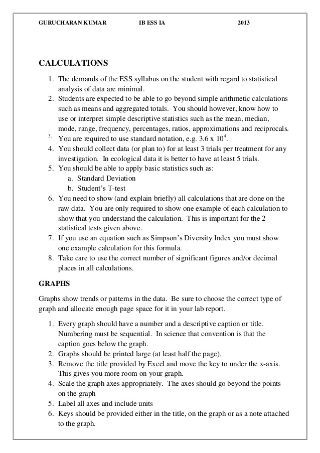 Ib Biology Lab Report Sample – Much more than documents In Ib Lab Report Template
