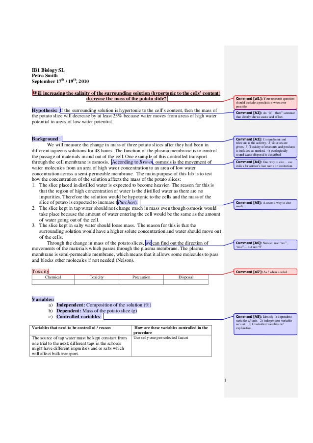 Ib Biology Lab Report Sample — Success! Check your inbox! In Ib Lab Report Template Regarding Ib Lab Report Template