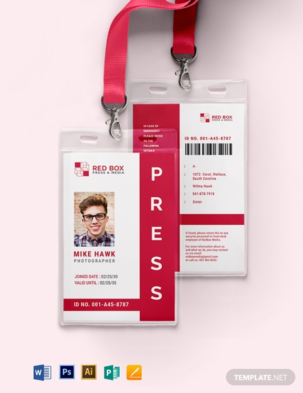 ID Cards & Accessories - Printfield Inside Photographer Id Card Template In Photographer Id Card Template