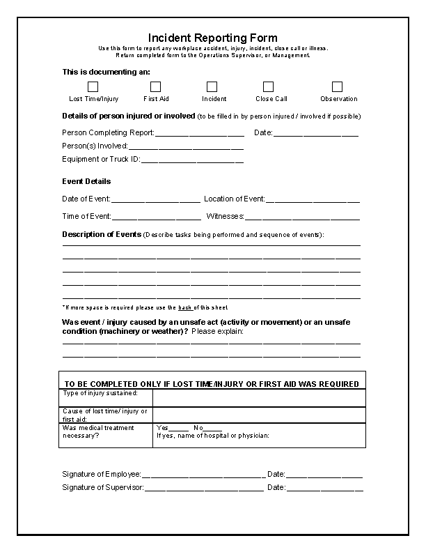 Incident Report Form Template Word - PDFSimpli With Regard To Incident Report Form Template Word Regarding Incident Report Form Template Word