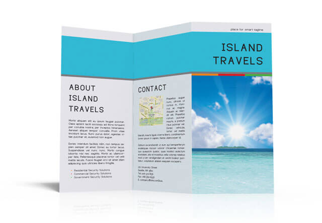 InDesign Tri-Fold Brochure Template. Free Download For Island Brochure Template