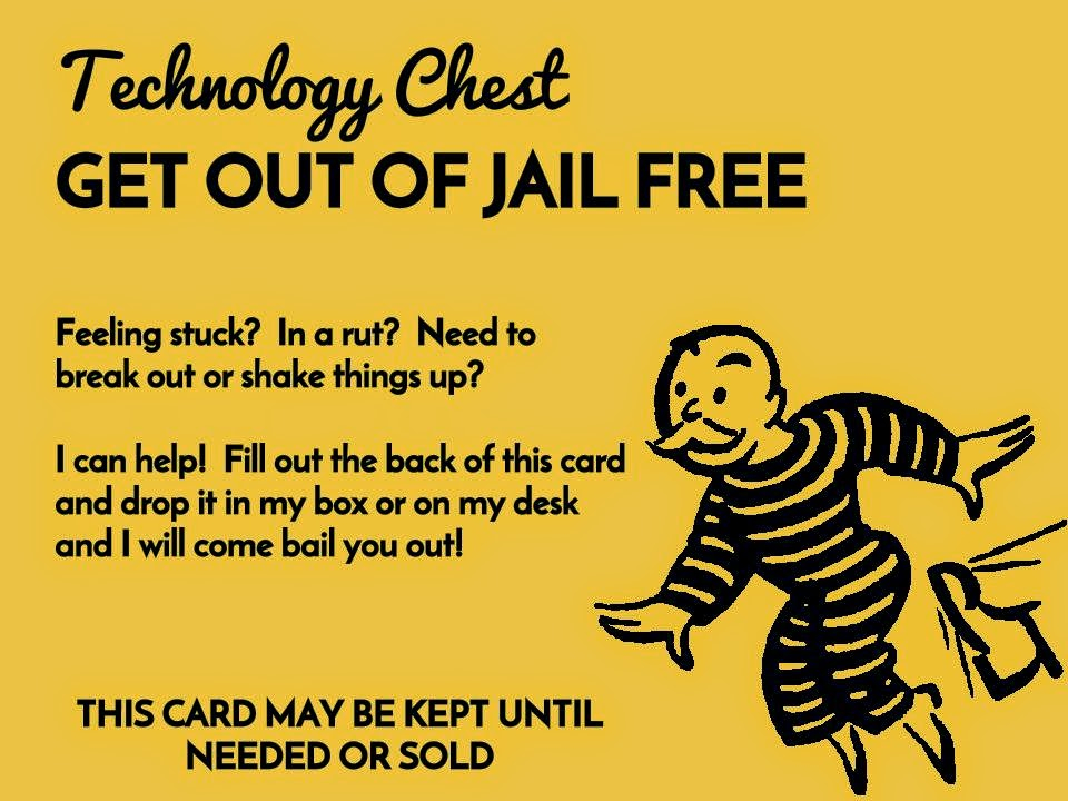 """Instructional Technology """"Get out of Jail FREE"""" card  how are  Inside Get Out Of Jail Free Card Template Throughout Get Out Of Jail Free Card Template"""