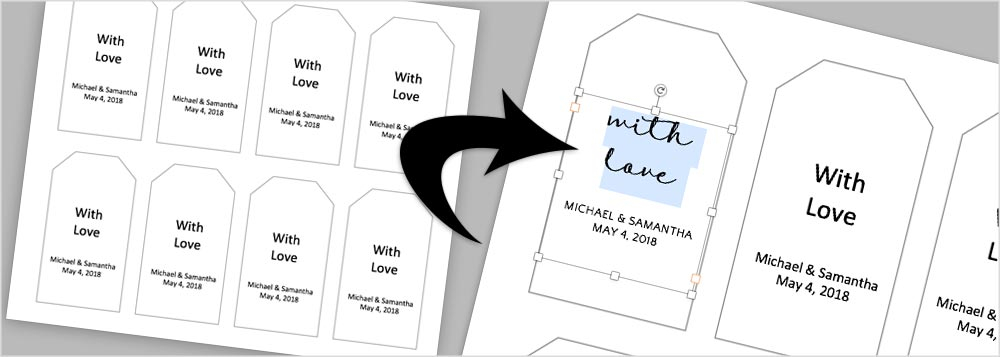 Instructions & Templates to Make Your Own Wedding Favor Tags Throughout Goodie Bag Label Template In Goodie Bag Label Template
