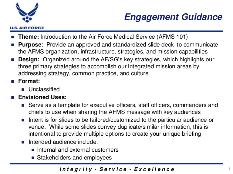 Introduction to the Air Force Medical Service (AFMS) Pertaining To Air Force Powerpoint Template With Air Force Powerpoint Template
