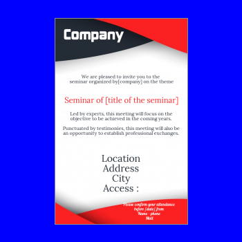 Invitation to a seminar template - printable card With Regard To Seminar Invitation Card Template Regarding Seminar Invitation Card Template