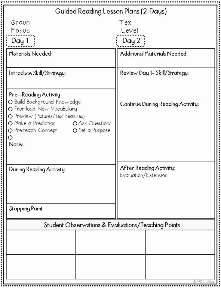 Jan Richardson Guided Reading Template (Page 11) - Line.11QQ With Regard To Guided Reading Lesson Plan Template Fountas And Pinnell