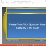 Jeopardy Game Templates For PowerPoint With Regard To Quiz Show Template Powerpoint