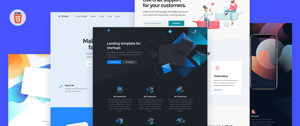 Landing Page Template: 11 Free HTML landing page templates - DEV  Inside Html Report Template Download Pertaining To Html Report Template Download