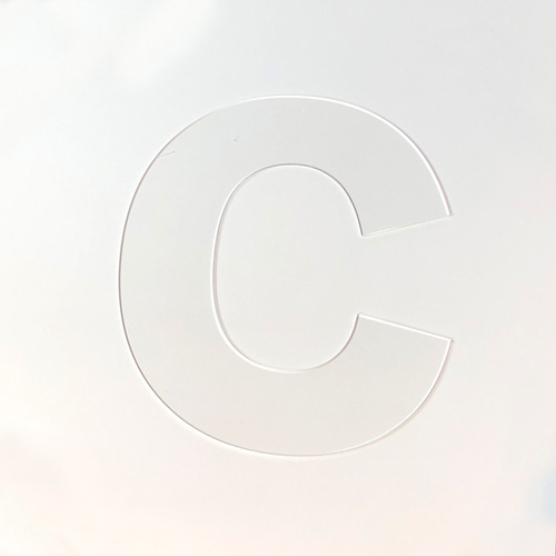 Lasercut Acrylic Letters - Capital C With Large Letter C Template Inside Large Letter C Template