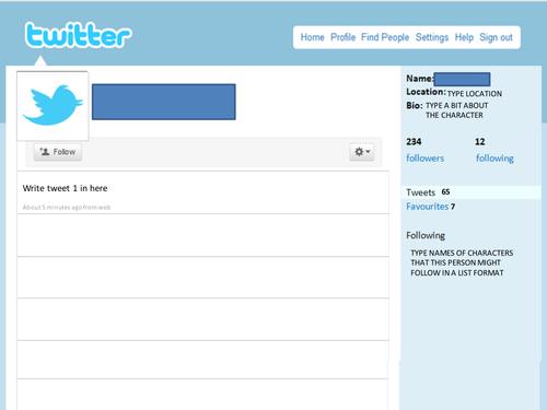 Latter: Blank Twitter Profile Template Intended For Blank Twitter Profile Template Regarding Blank Twitter Profile Template