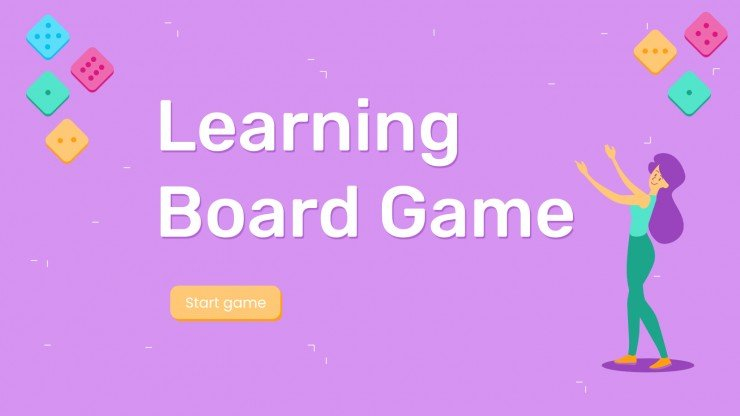 Learning Board Game Google Slides theme & PPT template With Powerpoint Template Games For Education Inside Powerpoint Template Games For Education
