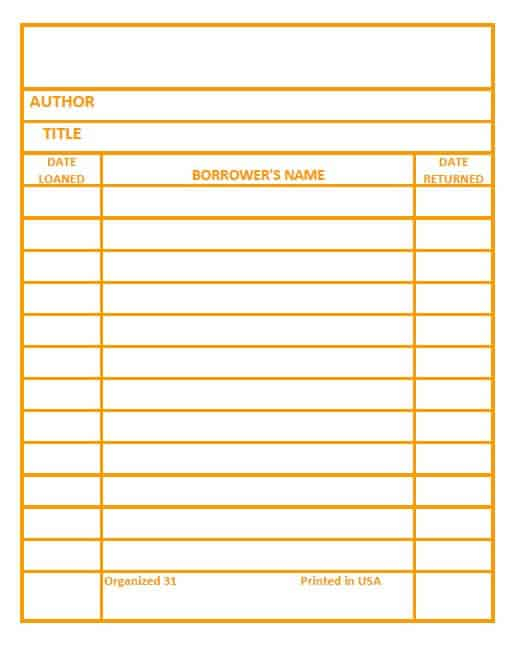 Library Card Printable - Make your own library book cards in six  Inside Library Catalog Card Template With Library Catalog Card Template