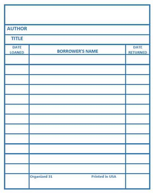 Library Card Printable - Make your own library book cards in six  Regarding Library Catalog Card Template Pertaining To Library Catalog Card Template