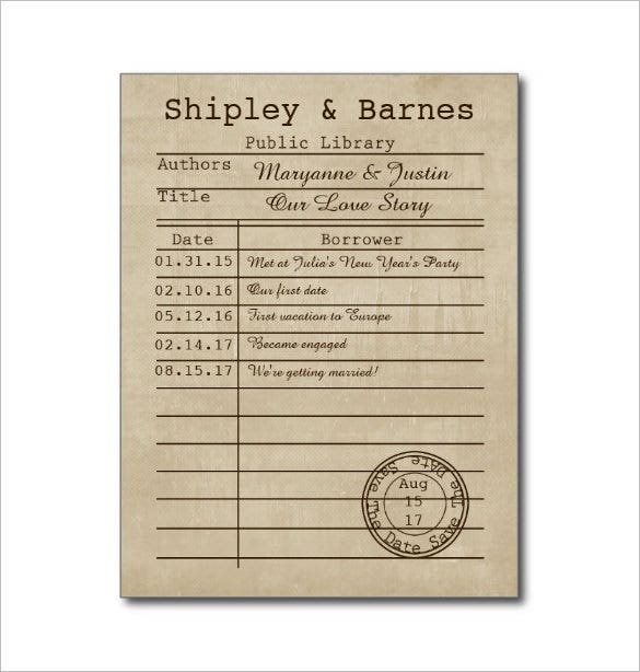 Library Card Template - 11+ Free Printable Sample, Example, Format  In Library Catalog Card Template With Regard To Library Catalog Card Template