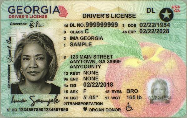 License Card Information  Georgia Department of Driver Services Throughout Georgia Id Card Template Inside Georgia Id Card Template