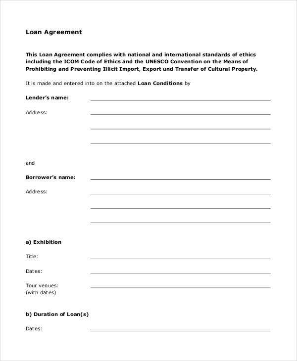 Loan Agreement Form - 11+ Free PDF Documents Download  Free  Throughout Blank Loan Agreement Template Pertaining To Blank Loan Agreement Template