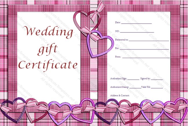Love Pattern Gift Certificate Template In Love Certificate Templates Pertaining To Love Certificate Templates