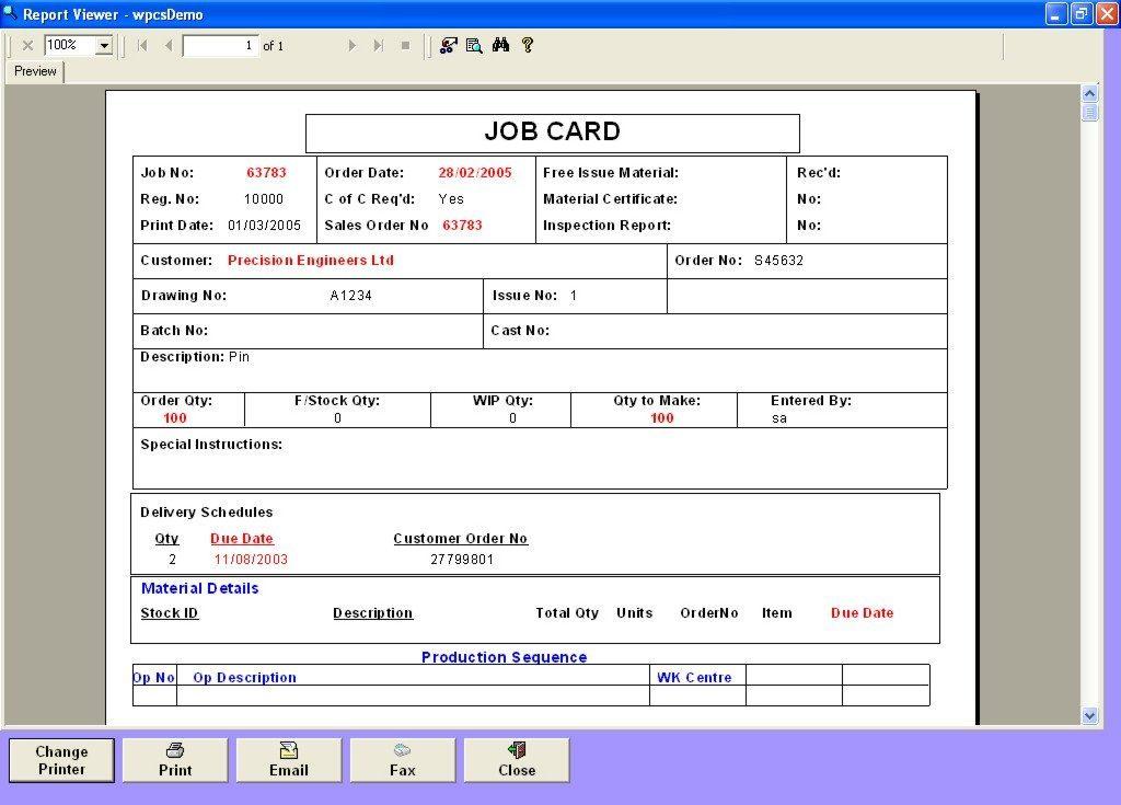 Maintenance Repair Job Card Template Excel  Excel11 Inside Job Card Template Mechanic With Job Card Template Mechanic