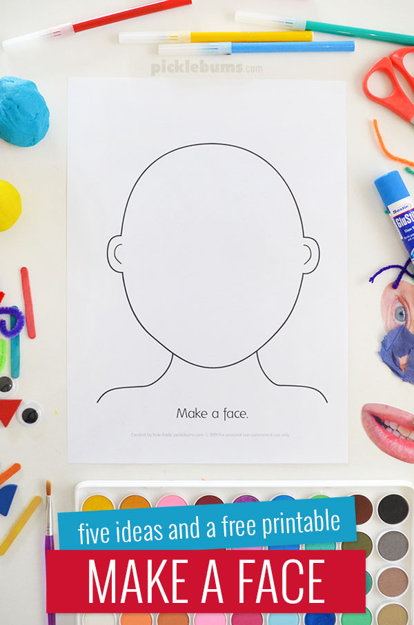 Make a Face Activity - Five Ideas and a Free Printable - Picklebums Throughout Blank Face Template Preschool