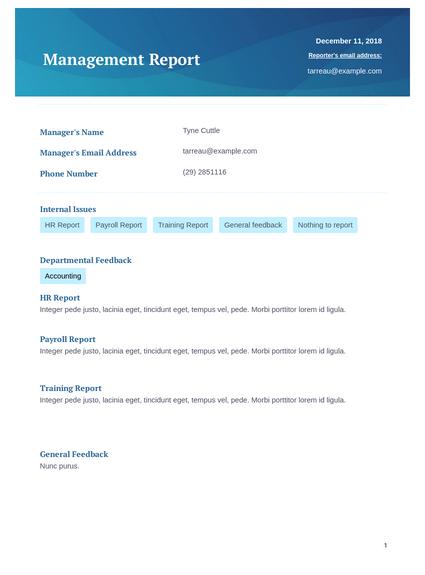 Management Report - PDF Templates  JotForm Pertaining To It Management Report Template Inside It Management Report Template