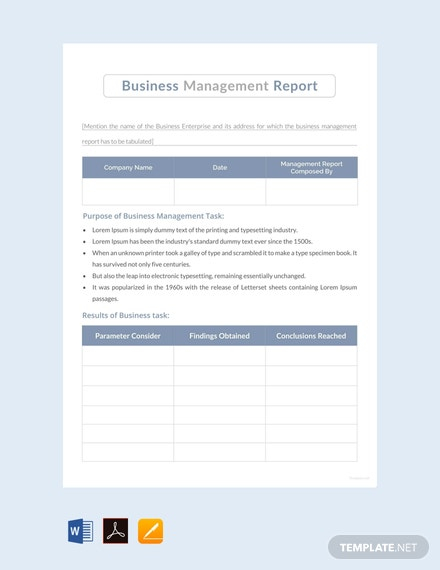 Management Report Template - 11+ Word, PDF, Apple Pages, Google  With It Management Report Template Intended For It Management Report Template