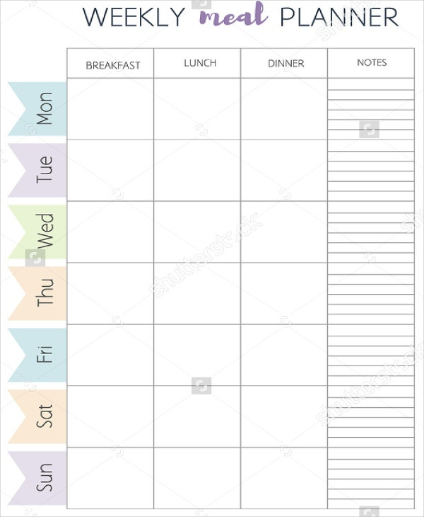 Meal Plan Template - 11+ Free Word, PDF, PSD, Vector Format  Pertaining To Menu Planning Template Word In Menu Planning Template Word