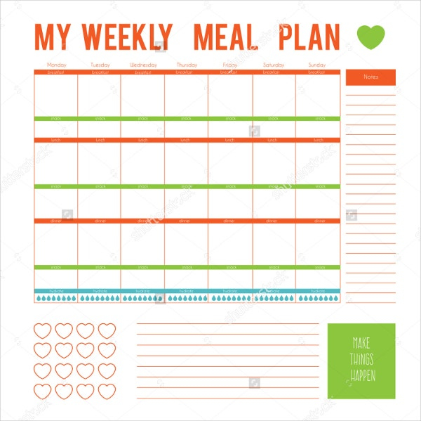 Meal Plan Template - 11+ Free Word, PDF, PSD, Vector Format  Within Menu Planning Template Word With Regard To Menu Planning Template Word
