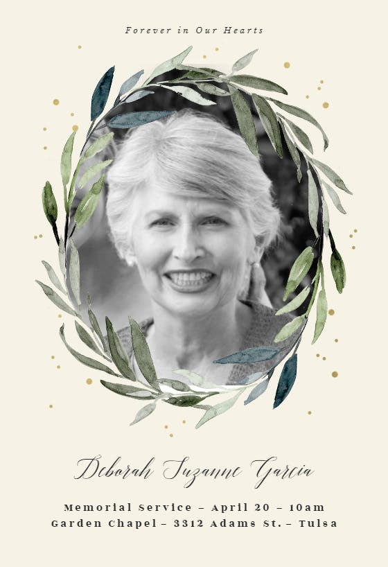 Memorial & Funeral Card Templates (Free)  Greetings Island Pertaining To Remembrance Cards Template Free Intended For Remembrance Cards Template Free